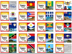 VI Lottery Our Islands' Flags Ticket