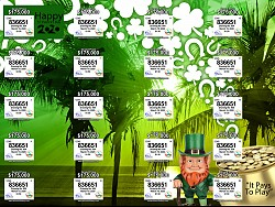 VI Lottery Drawing #954 - Happy St. Patrick's Day 2020 Ticket now on sale!